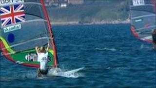 Windsurfing race in Weymouth
