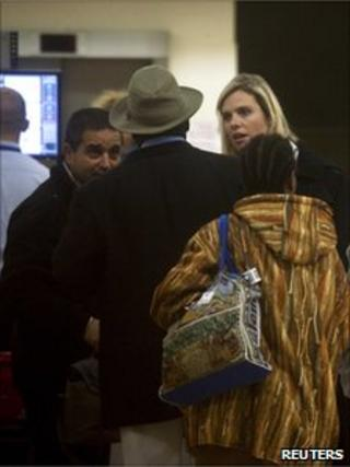 Sudanese migrants at Ben Gurion airport near Tel Aviv