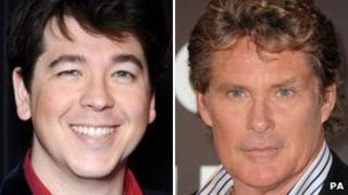 Michael McIntyre and David Hasselhoff