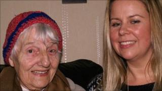 Carer Claire Hobson and Doris Firmstone, Dyserth, Denbighshire