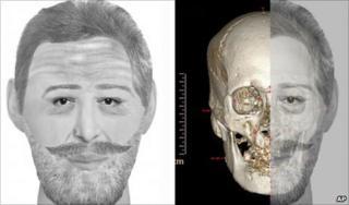Composite of artist's impression and skull of Henry IV (AP)