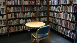Interior of a library