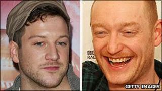 Matt Cardle and Biffy Clyro's Ben Johnston