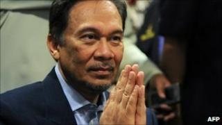 Anwar Ibrahim, pictured on 12 December 2010