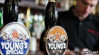 Young's beer pumps