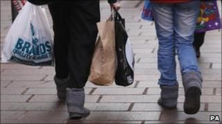 Shoppers on Buchanan Street in Glasgow on 14 December