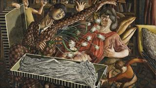 Hilda and I at Pond Street by Stanley Spencer