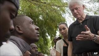 Bill Clinton in Port-au-Prince