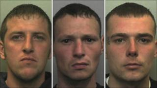 Michael Grocott, Gareth Dennis and Tom Boyd have all been jailed