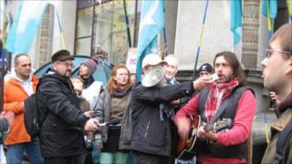 Opposition activists in Minsk