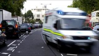 Ambulance on 999 call