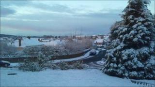 Snow in Weston-super-Mare 17 December