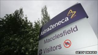 AstraZeneca sign outside its Macclesfield plant