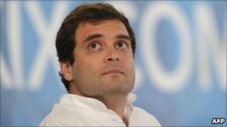 Congress party general secretary Rahul Gandhi in October 2010