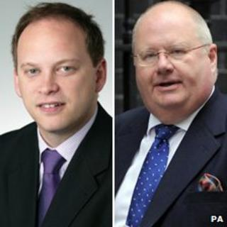 Grant Shapps (left) and Eric Pickles