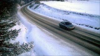 Driver in snow