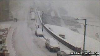 Snow in Port Erin