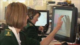 EMAS control centre staff