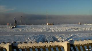 Sea smoke at Crosby