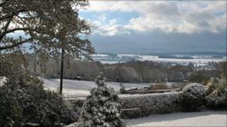 Ian Sargeant took this picture of the wintry view of Crondall in north east Hampshire