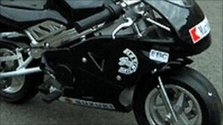Miniature motorcycle (picture from Kent Police)