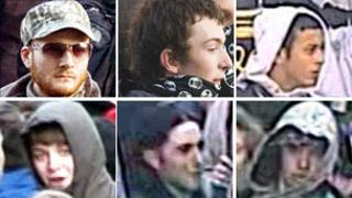 Images of people police wish to talk to over the demonstration on 24 November