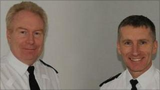 Special Chief Inspector Paul Cretney (left) with Chief Superintendent Don Spiller