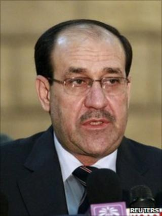 Iraqi Prime Minister Nouri Maliki (file photo Nov 2010)