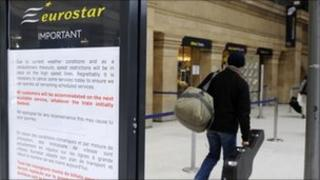 Eurostar passenger at Gare de Nord station in Paris