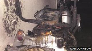 Scene of Parkside flats fire