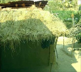 Sufia Begum's home in Rajshahi district, north-western Bangladesh