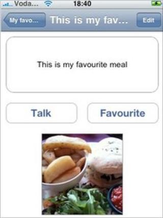 TalkForMe App menu screen