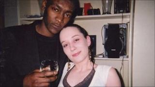 Jaabe Roberts, pictured with girlfriend Karen Fyfe, was stabbed in the heart