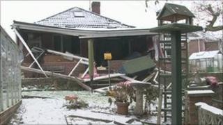 Damaged bungalow