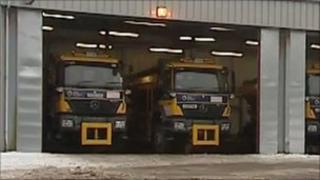 Gritting depot, Anglesey