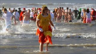 Walrus Dip at Cefn Sidan Beach