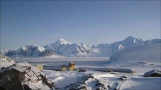 Rothera research station, on the western shore of the Antarctic peninsula