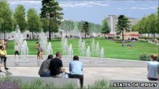 Millennium Town Park: Artist's impression