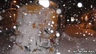 Railway snow plough. Pic: Network Rail