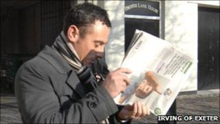 Christopher Farrell leaving Plymouth Magistrates Court