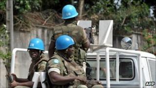 United Nations peacekeepers in Abidjan