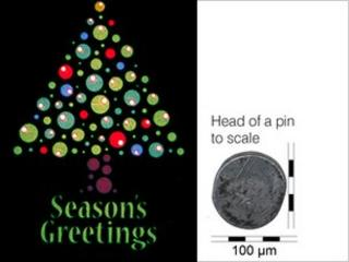 smallest Christmas card graphic