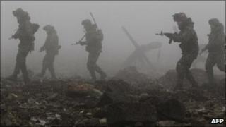South Korean soldiers train in Dangjin