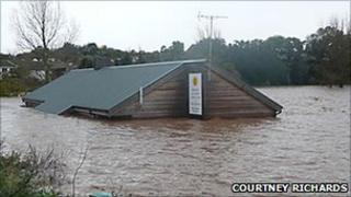 Flooding at Budleigh Salterton, Devon