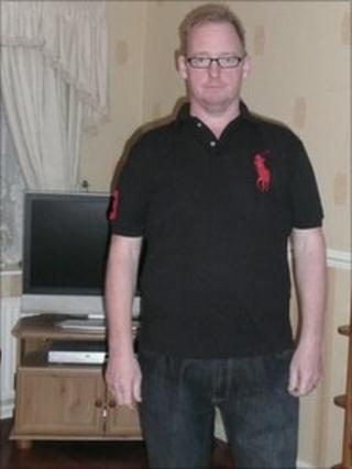 A slimline Steven Greggains after his operation