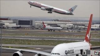 Plane takes off at Heathrow