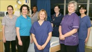 Midwives at Princess Anne Hospital in Southampton