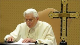 Pope recording message
