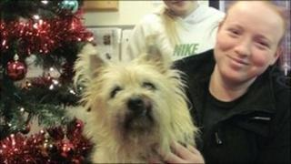 Hamish with owner Ashley McGuiness