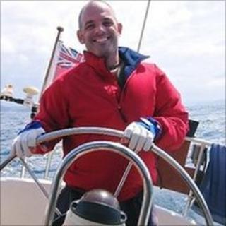 John Denard at sea
